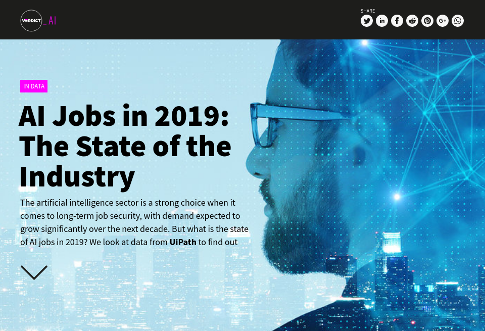 AI Jobs in 2019: The State of the Industry - Verdict AI