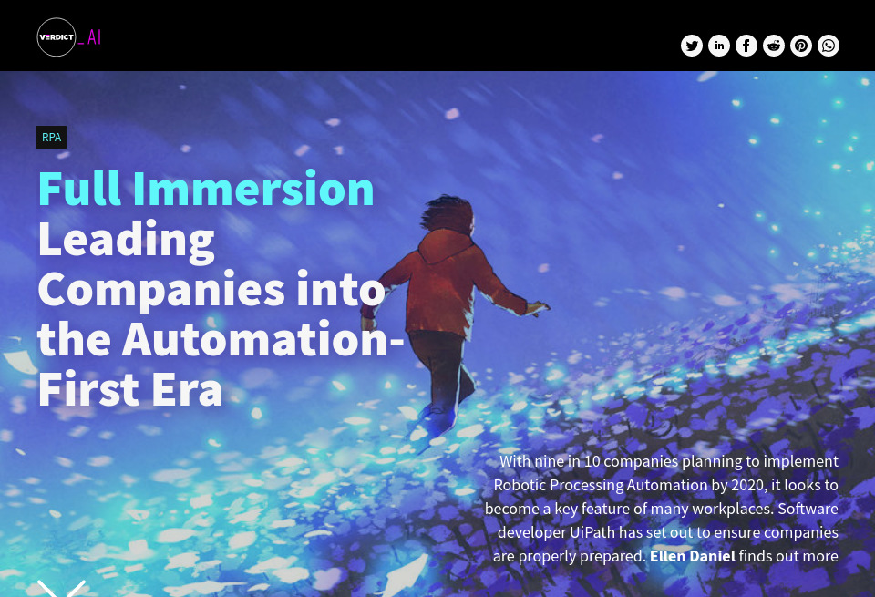 Into the Automation-First Era - Verdict AI   Issue 8   May 2019