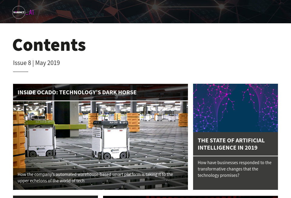 Contents - Verdict AI | Issue 8 | May 2019